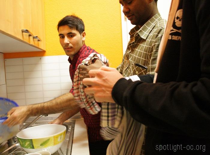 beim abwaschen