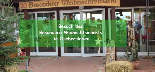 Besuch des Besonderen Weinachtmarkts in Oschersleben